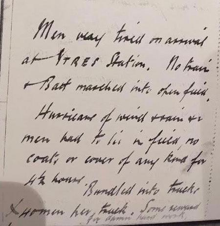 W Imlah War Diary, Page: 21st  Nov 1917
