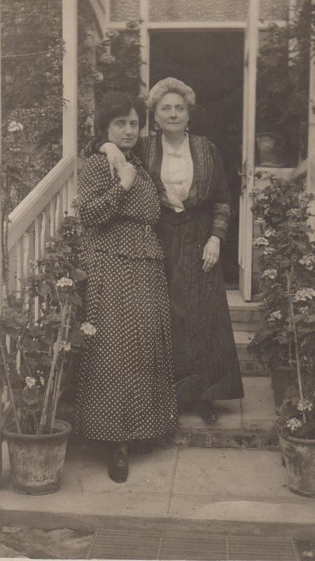 Eliza Galbraith and friend