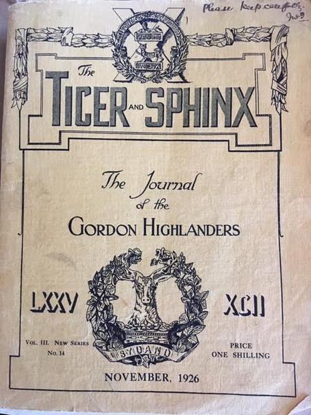 The Journal of the Gordon Highlanders, Nov 1926
