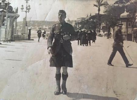 Walter Imlah in Nice during convalesence
