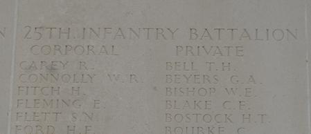 HT Bostock - name engaraved