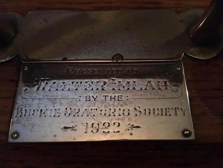 To Walter Imlah from Buckie Oratorio Society 1922