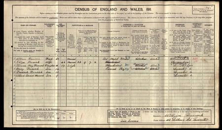 Extract from 1911 census