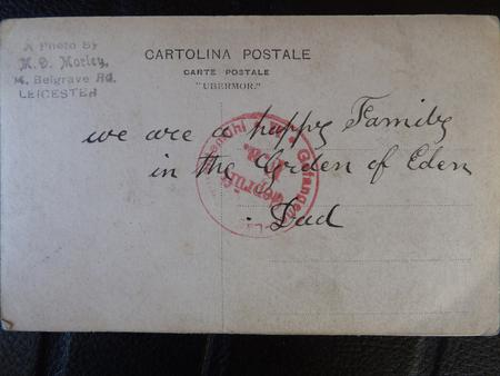 Postcard to Harry as POW (1 - Back)