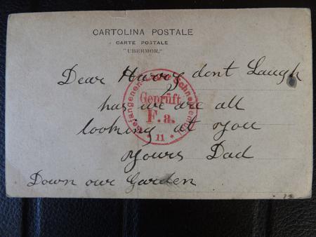 Postcard to Harry as POW (2 Back)