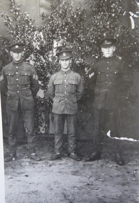 Harry with liberated POW's