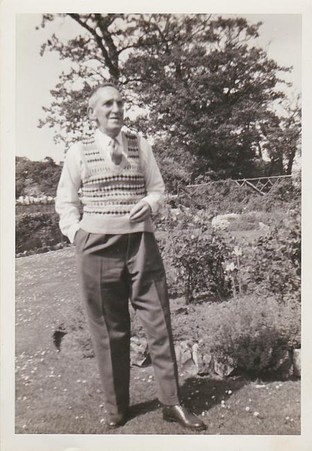 Alfred in his garden