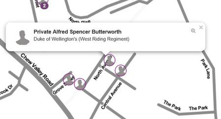 Alfred Spencer Butterworth's Home Location