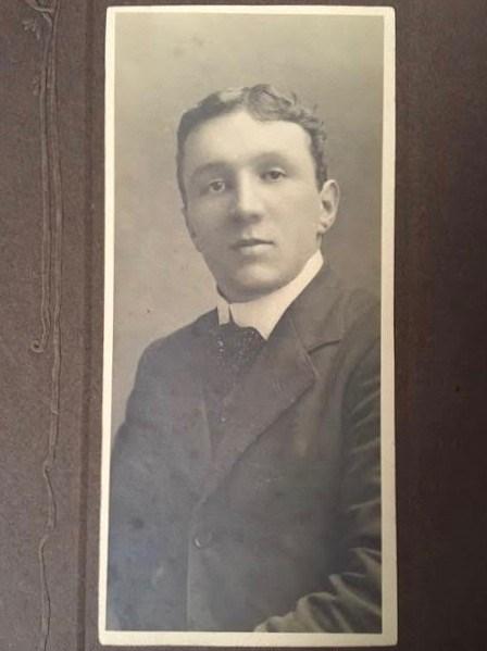 Walter Imlah, aged 20, 1903 as a young bank clerk