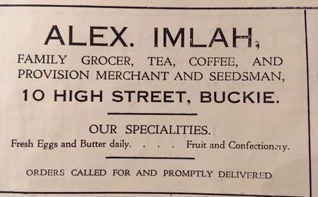 Alex. Imlah Family Grocer ... and Seedsman