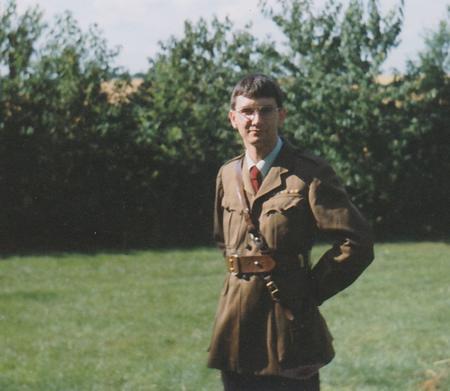 Wearing Grandpa's uniform