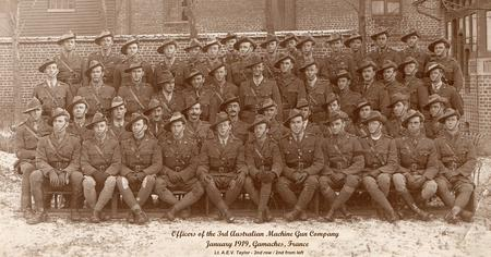 Officers of the 3rd Machine Gun Company.