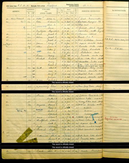 John Adam Cathersides - 1939 Register