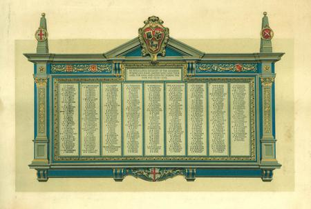 Barclays Bank printed Roll of Honour