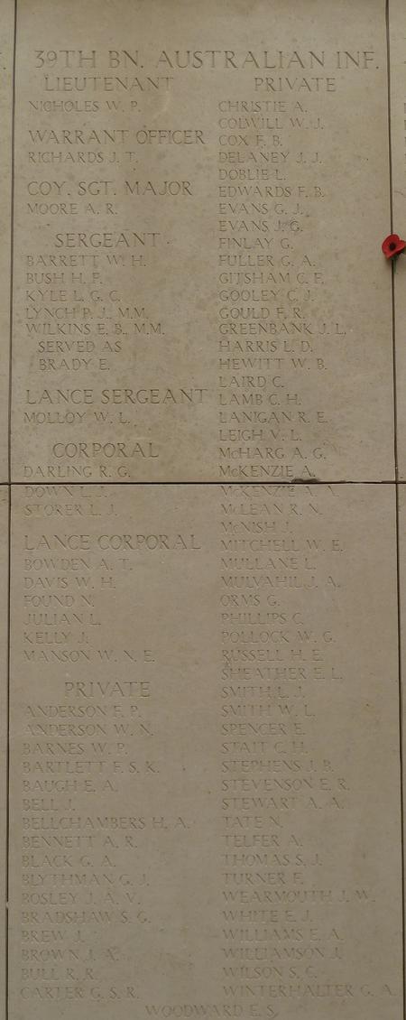J T Richards on Menim Gate Memorial