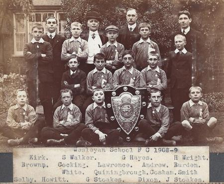 Wesleyan School Football Club 1908-09