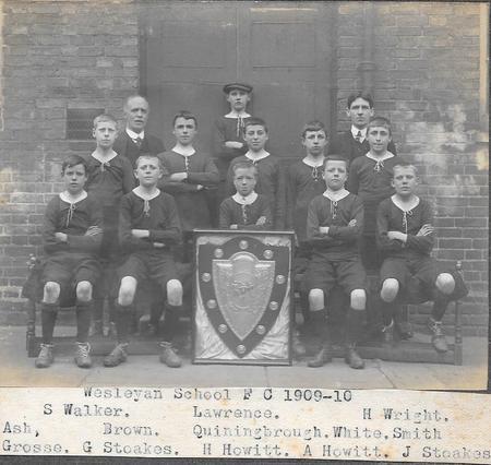 Wesleyan School Football Club 1909-10