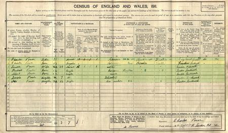 1911 England Census for Charles Power