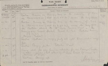 15th September 1917 - Unit War Diary