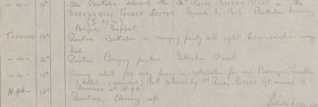 15th September 1917 - Unit War Diary close-up
