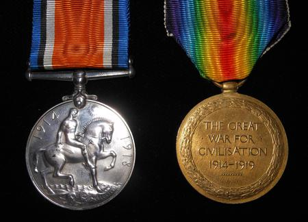 The British War Medal & Victory Medal / Reverse