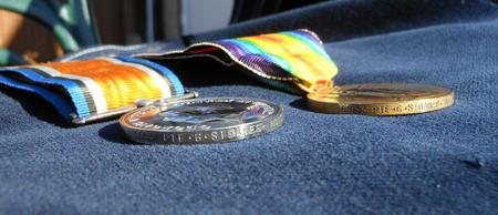 The British War Medal & Victory Medal / Rim Detail
