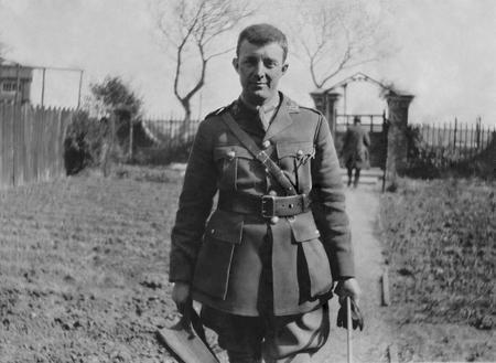 Oscar at Farrago, Hornsea. On leave, winter 1917