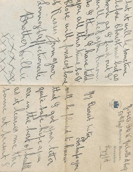 Letter 1914 Pages 1 and 4