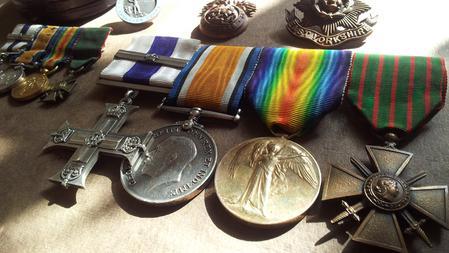 Captain W.O. Montgomery's medal set