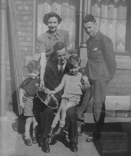 William Herbert Harland with his children