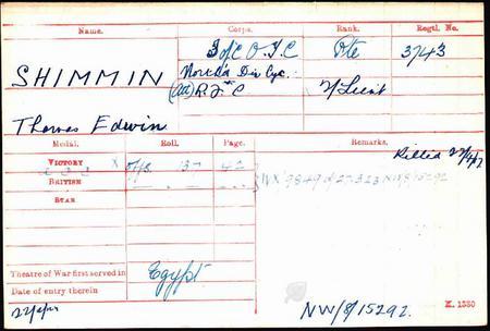 THOMAS EDWIN SHIMMIN
