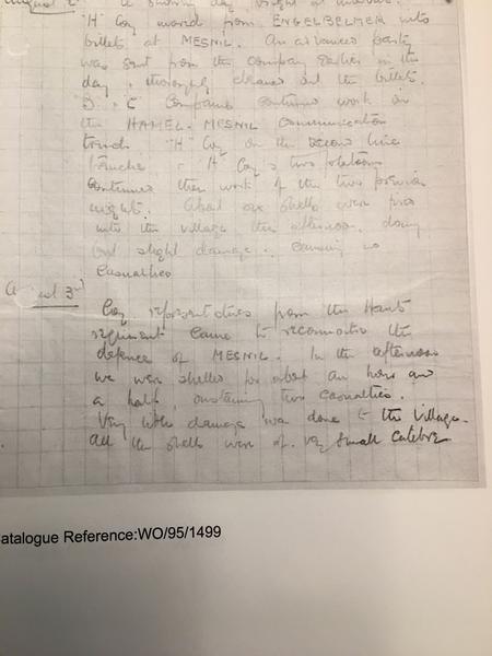 Somerset light infantry war diary