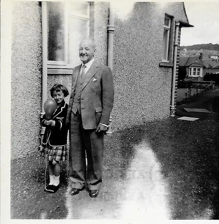 George Prior with his Granddaughter Joan Jameson.