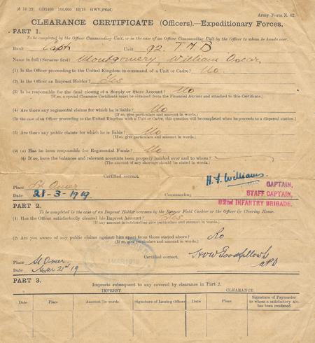 Clearance Certificate