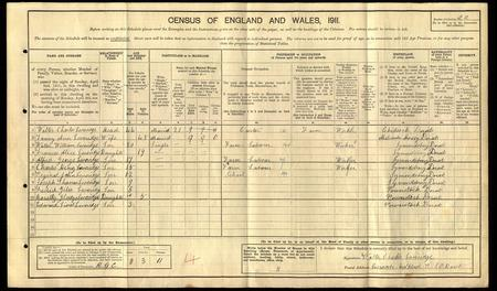 Loveridge Family - 1911 Census