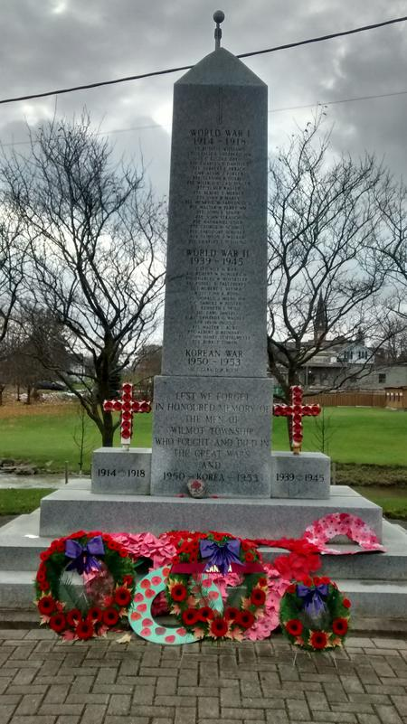 Cenotaph in New Hamburg, Ontario, Canada