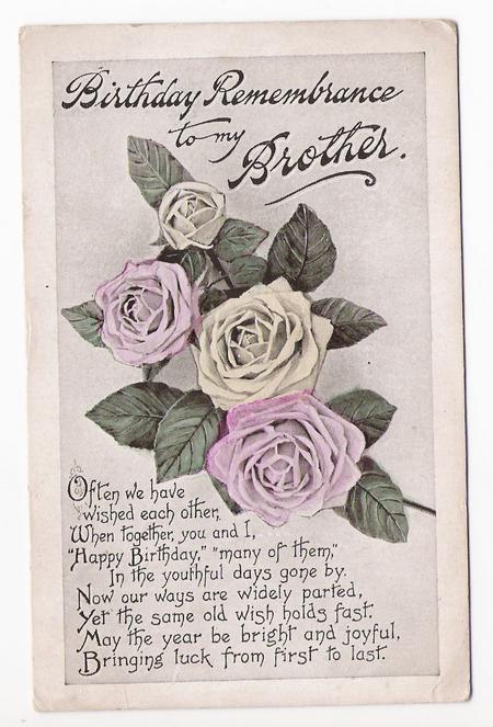 Front of Birthday Postcard
