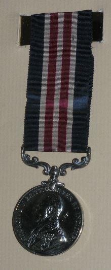 Albert's military medal