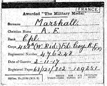Military Medal record