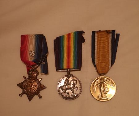 First World War Medals belonging to George Prior.
