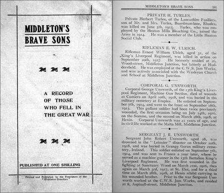'Middleton's Brave Sons'