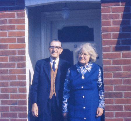 Edward & May at home, c. early mid 1970's